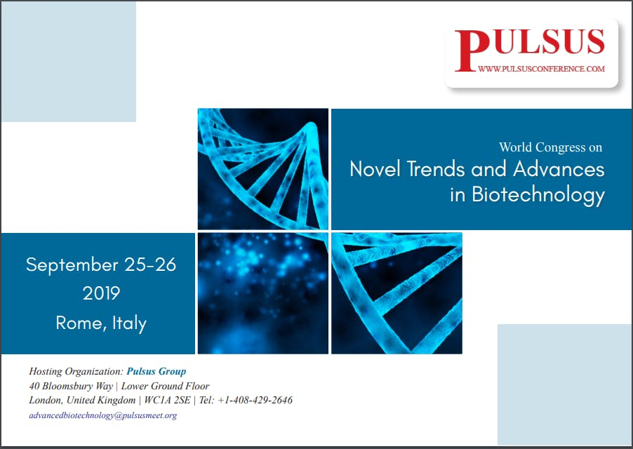 World Congress on Novel Trends and Advances in Biotechnology (PGR)