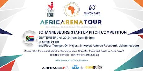 Johannesburg Startup Pitch Event - AfricArena Tour 2019 tickets