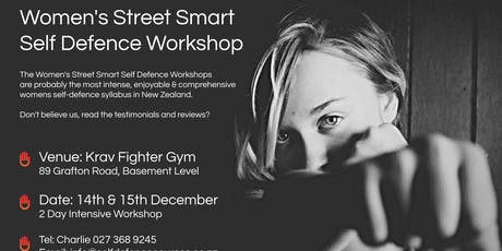 Women's Street Smart Self Defence Workshop - Auckland CBD Dec 2019 tickets
