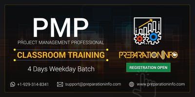 PMP Certification Classroom 4 Days Weekday Training in Washington DC