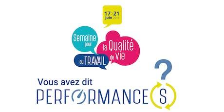 SQVT 2019 -La Qualité de Vie au Travail : un levier de performance pour votre entreprise tickets