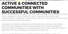 Active & Connected Communities: Health Systems and Other Services 10/9