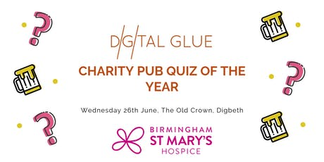 Birmingham St Mary's Hospice Charity Pub Quiz 2019 tickets