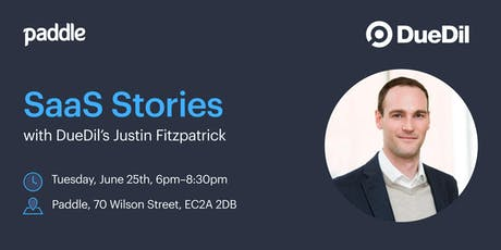 SaaS Stories with DueDil's Justin Fitzpatrick tickets