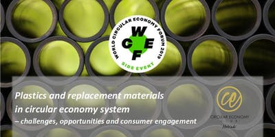 Plastics and replacement materials in circular economy system