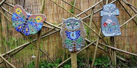 Hand Formed Garden Mosaic Art Shape Class (deposit booking)  tickets