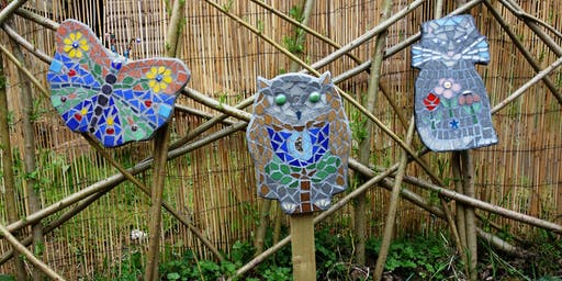 Hand Formed Garden Mosaic Art Shape Class (deposit booking)