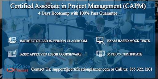 Certified Associate in Project Management (CAPM) 4-days Classroom in Winnipeg