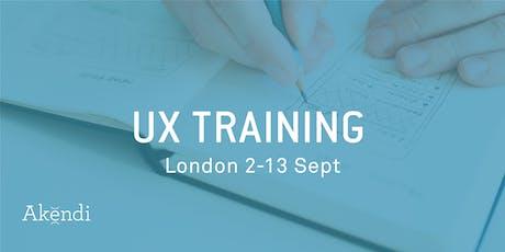 UX Training & Certification, London - Sept 2019 tickets
