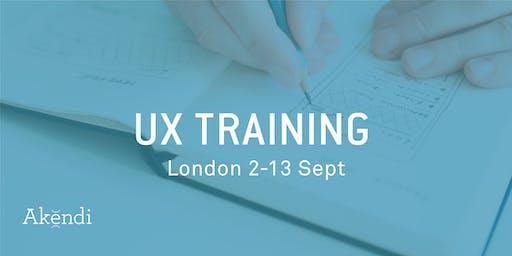 UX Training & Certification, London - Sept 2019