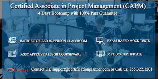 Copy of Certified Associate in Project Management (CAPM) 4-days Classroom in Quebec City