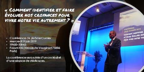 Conférence de Jérôme Curnier 19 juin 2019 à Paris billets