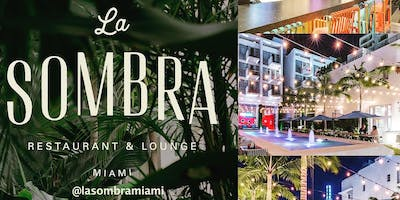 Dinner Party at La Sombra Restaurant & Lounge on Miami Beach