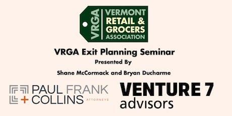 VRGA Exit Planning Seminar tickets