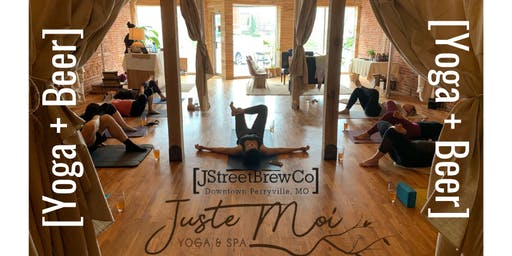Yoga + Beer at Juste Moi
