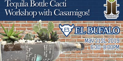 Tequila Bottle Cacti Workshop with Casamigos at El Bufalo in Baltimore