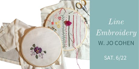 Intro to Line Embroidery w. Jo Cohen  tickets