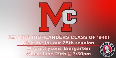 McLean High School Class of '94: 25th Reunion