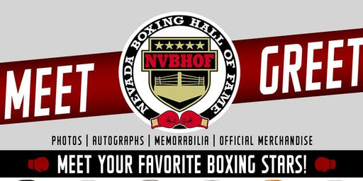 Nevada Boxing Hall of Fame Meet & Greet/Fan Experience