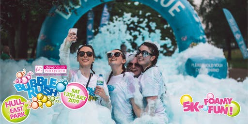 Hull Bubble Rush - the fun run through coloured bubbles!