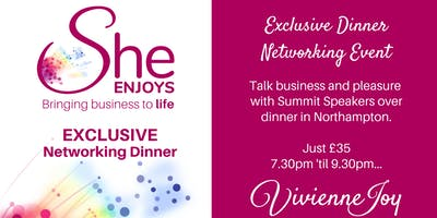 She-Enjoys Business Networking Dinner