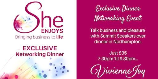 She-Enjoys Business Networking Dinner