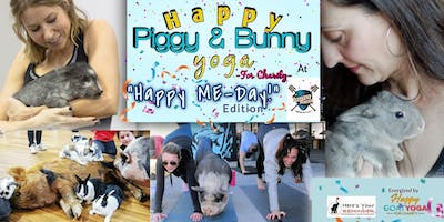 """Happy Piggy & Bunny Yoga-For Charity: """"Happy ME-Day"""" at Panther Island Brew"""