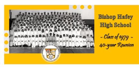 Bishop Hafey High School - Class of 1979 - 40th Reunion tickets