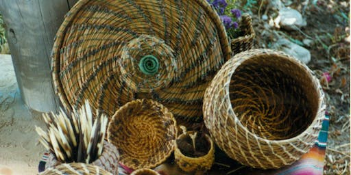 Pine Needle Basket Weaving at SLO Botanical Garden June 29