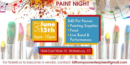 Painting The Picture of Music- Paint Night