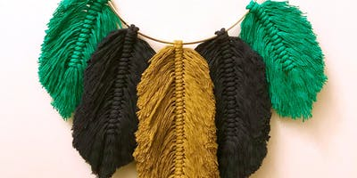 Wine'd Down: Macrame Feathers