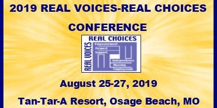 2019 Real Voices, Real Choices Conference - PARTICIPANT REGISTRATION