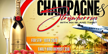SOCIAL VIBEZ ELITE TRAVEL~ CHAMPAGNE & STRAWBERRIES WITH AN ISLAND TWIST tickets