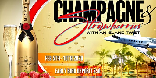 SOCIAL VIBEZ ELITE TRAVEL~ CHAMPAGNE & STRAWBERRIES WITH AN ISLAND TWIST