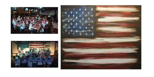 PATRIOTIC HOLIDAY Paint Party at J. Gilligan's in Arlington I 07.03.19