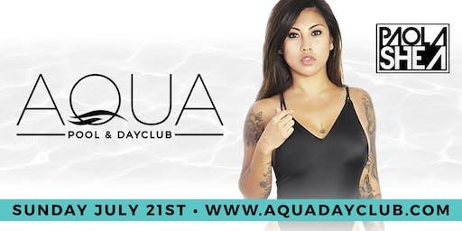 "Aqua Dayclub 7/21 ""Pink Party"" W/ DJ Paola Shea"