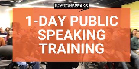 1-Day Public Speaking Training Intensive | BostonSpeaks tickets