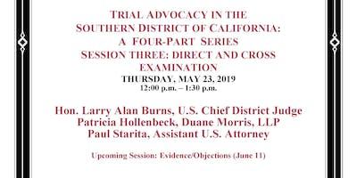 Trial Advocacy in the Southen District: Session Three Direct and Cross Examination