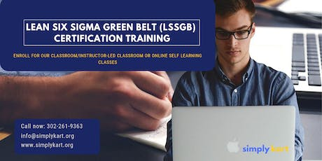 Lean Six Sigma Green Belt (LSSGB) Certification Training in Janesville, WI tickets