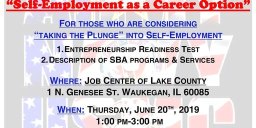 """Self-Employment as a Career Option"" with the Small Business Administration (Lake County)"