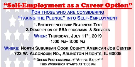 """Self-Employment as a Career Option"" - The Small Business Administration (AH) tickets"