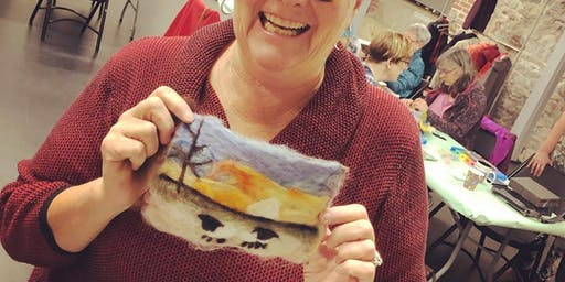 Needle Felted Landscape - at the Farm