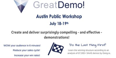 Great Demo! Skills Workshop