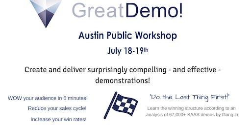Great Demo! Skills Workshop