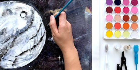 WORKSHOP: Watercolor Moons & Galaxies with Electric Eunice tickets