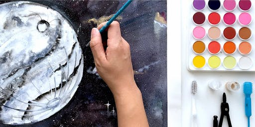 WORKSHOP: Watercolor Moons & Galaxies with Electric Eunice