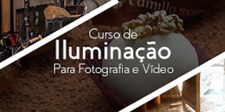 Curso de Iluminação para Fotografia e Vídeo ingressos