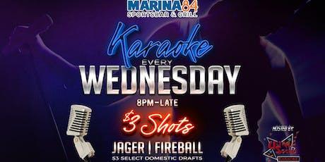 Karaoke Rockstar Wednesdays at Marina84 tickets