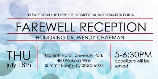 Farewell Reception for Dr Wendy Chapman