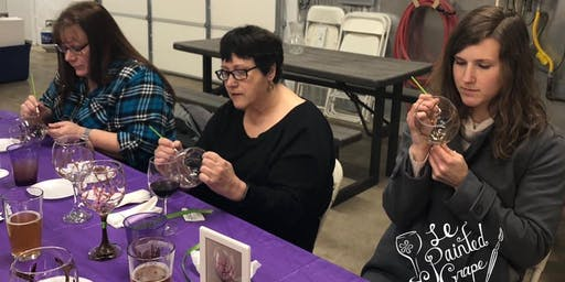 Lady Bug Wine or Beer Glass Painting Class at Boring Winery